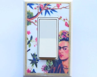 7 Different Designs- Frida light switch covers & MATCHING SCREWS- Frida altered art Frida shrine Frida art prints Frida Kahlo wall art decor
