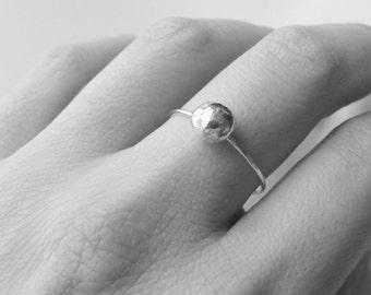 Sterling silver ring silver ball ring Sterling silver stacking ring stackable ring silver nugget