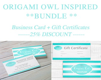 Origamiowl etsy origami owl inspired bundle save 25 business cards gift certificates digital colourmoves