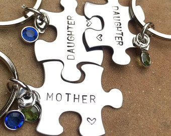 Mother's Day Gifts, Mother Daughter Gifts, Mother Daughter Puzzle Key chains, Gifts for mom, Gifts for Daughter, natashalaoha