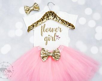Baby Girls Flower Girl Shirt, Flower Girl Onesie, Flower Girl Gift, Petal Patrol, Wedding Gift, Flower Girl Outfit