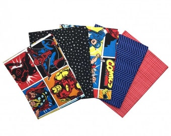 Marvel and Avengers Collection - fat quarter bundle 5x fabrics
