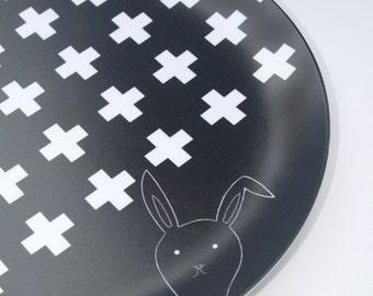 Swiss Cross Personalized Kids Plate Dinnerware Melamine Birthday Display Plate Custom Gift Kids Tumbler Dining Set Melamine Plate