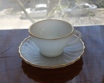 Anchor Hocking Fire King Shell Cup & Saucer