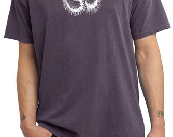 Yoga Clothing For You Mens Shirt OM Tie Dye Pigment Dyed Tee T-Shirt = PC099-OMTIEDYE