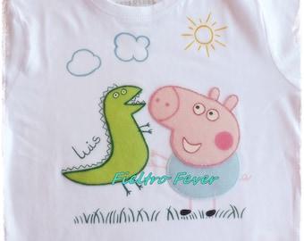 Peppa Pig, george pig T-shirt, george pig personalized, george pig, peppa pig, handmade
