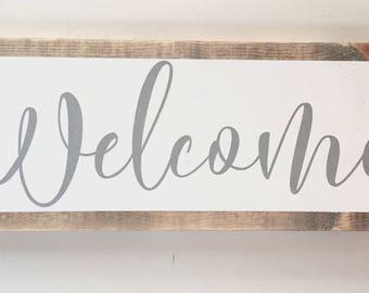 dbc | welcome wood sign