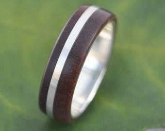 Size 8, READY TO SHIP Solsticio Nacascolo Wood Ring - ecofriendly wood wedding band, mens wedding band, wood wedding ring