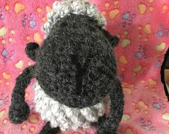 Stuffed lamb, stuffed sheep, sheep, lamb, crocheted lamb, crocheted sheep, wooly sheep, wooly lamb, stuffed toys, stuffie,