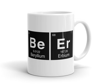 Funny Beer Mug, periodic Mug, periodic table Mug, chemist Mug, chem Mug stem Mug funny gift for beer lover beer gift for science lover #1131