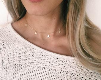 Star Gaze Choker Necklace