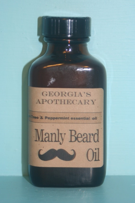 Manly Beard Oil Tea Tree Peppermint Essential oil with Organic oils 3ozs