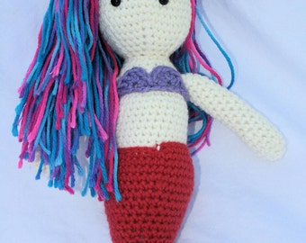 Mermaid, amigurumi doll, crochet mermaid, stuffed mermaid, crochet mermaid doll, birthday gift, mermaid plush toy, mermaid doll, mermaid toy