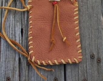 Soft leather phone case , Leather phone sleeve