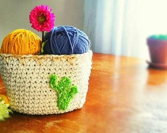 Rustic Southwest Crochet Basket