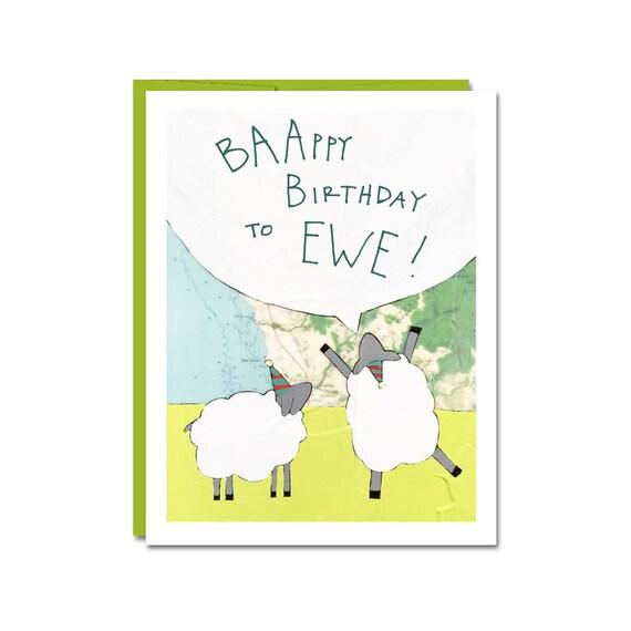 Funny Sheep Birthday Card By Rachel Austin