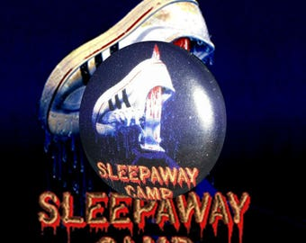 "H046 Sleepaway Camp 1"" Pinback Button Pin Cult Classic Horror Cinema Film Movie Slasher 1980's 80's Retro"