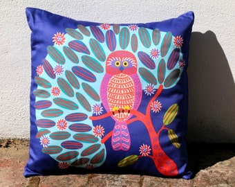 Boobook and Hakea Australian Cushion Cover