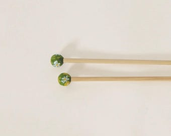 Handcrafted 5 bamboo knitting needles