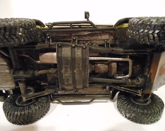 Classicwrecks,RatRod, Scale Model, Rusted, Jeep Car,Yellow,Four Wheel Vehicle