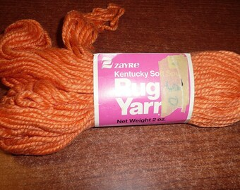 Vintage Zayre Rug Yarn Skein Orange Color