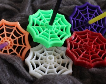 Open Spiderweb Bottom Whorl Spindle 3D Printed