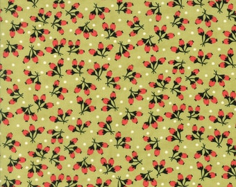 Fig Tree Fabric - Chestnut Street Fabric - Green Fig Tree Fabric - Moda Fabric - Green Quilting Fabric - By The 1/2 Yard