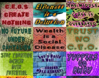 """Anti-Wealthy Stickers - Eat the Rich! - 3 x 4"""" Vinyl Sticker or Magnet"""