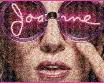 Lady Gaga Poster Joanne Tour A1 Mosaic Bedroom Poster Monsters (made of tiny Gaga photos)