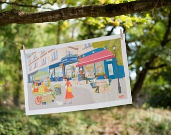 Bristol Tea towel - Clifton Village
