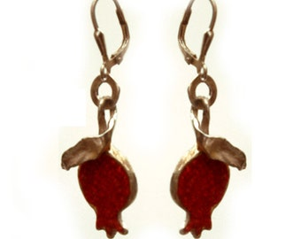Stylish Red Pomegranate Earrings