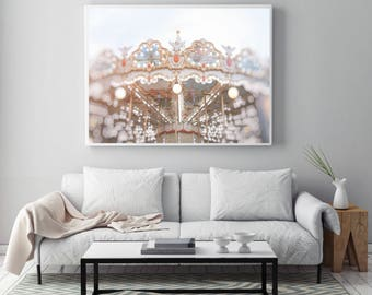 Carrousel in Paris, Merry Go Round, Wall Art, Photography, Digital Download, Romantic art, Art & Collectibles, Pretty in Paris