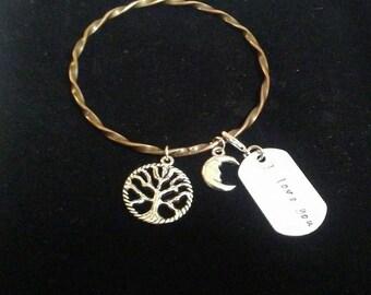 I Love You, Tree of Life Charm Bracelet