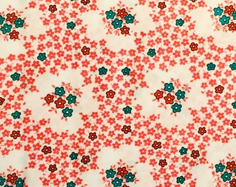 Everything But The Kitchen Sink RJR  Pink Floral Toss 1930's Reproduction Fabric