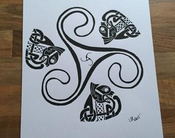 Triskele Print