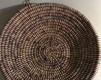 Vintage 12 inch plus sweetgrass basket possibly from charleston