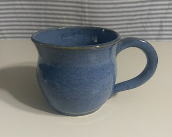 Handmade Blue Woo Mug