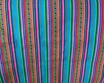 Tribal Fabric -  stripes fabric  - Peruvian fabric - Aguayo fabric