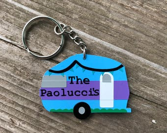 Personalized Camper Keychain