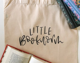 Little Bookworm Children's Library Tote Bag
