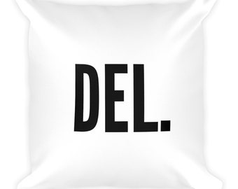 Delete Throw Pillow