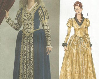 Butterick 5114 UNCUT Misses Historical Renaissance Victorian Princess Costume Sewing Pattern Size 6-12
