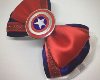 Captain America  Themed bow