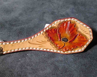 Orange flower keychain, under 25 gift, colorful keychain,handmade keychains