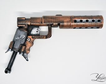 Custom Nerf Jolt with Silencer mod | Steampunk gun | Custom Nerf Gun |  Cosplay Gun