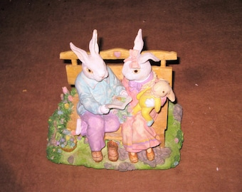 All ceramic music box with Easter Theme   [6566bt]
