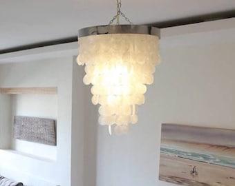 Chandelier or capiz shell lighting