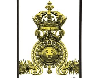 Versailles Palace Gates Crown Pop Art Print