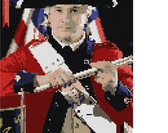 Needlepoint Kit or Canvas: Historic Soldier
