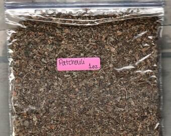 1 ounce, 2 ounce or 4 ounce Patchouli leaf herb  c/s  (1 oz., 2 oz. or 4 oz.)